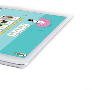Moomin Language School kielenoppimispalvelu auki tabletilla