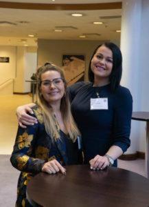 Ella Peltola ja Martina Hamberg jakoivat kokemuksiaan Moomin Language Schoolista Educa-messuilla.